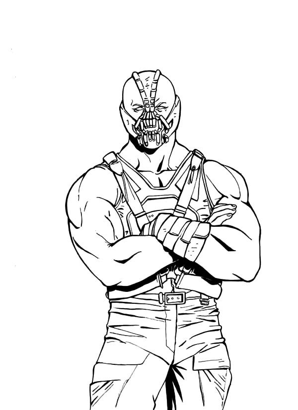 Bane Batman, : The Famous Bane Batman Coloring Pages