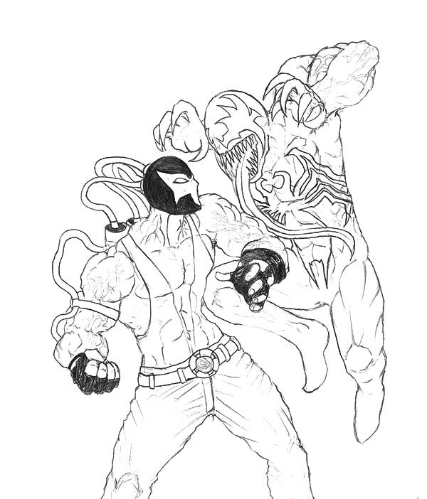 Bane Batman, : Venom vs Bane Batman Coloring Pages