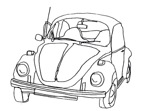 Bug Car Coloring Pages : Volkswagen beetle coloring pages