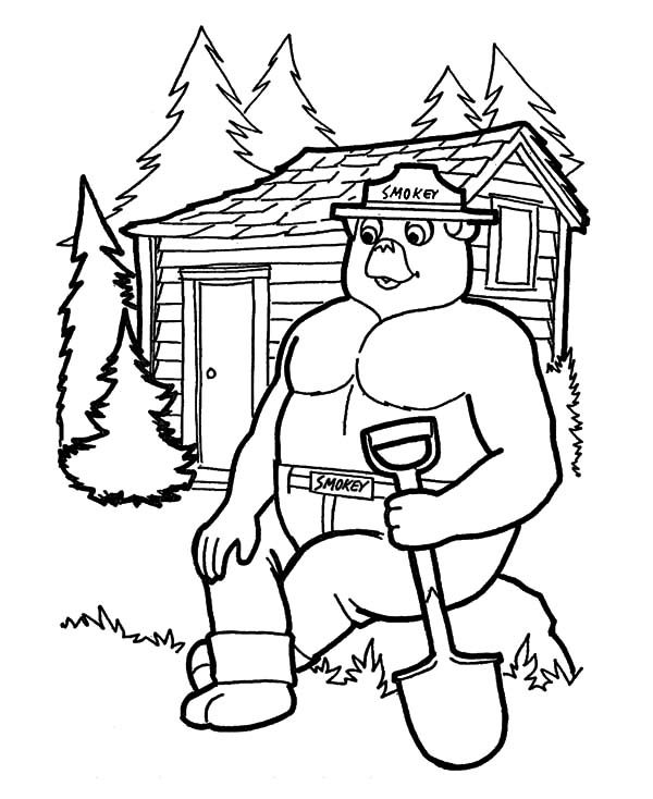 Arbor Day, : A Gorilla Forest Ranger on Arbor Day Coloring Pages