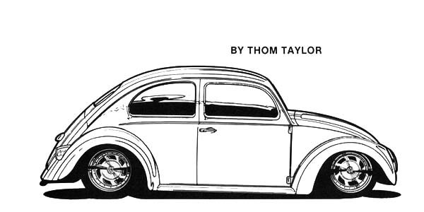 Beetle Car, : An Old Beetle Car Coloring Pages