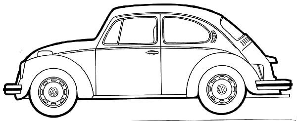Beetle Car, : Antique Beetle Car Coloring Pages