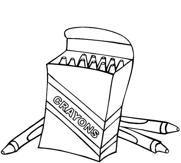 Box Crayons, : Awesome Box Crayons Coloring Pages