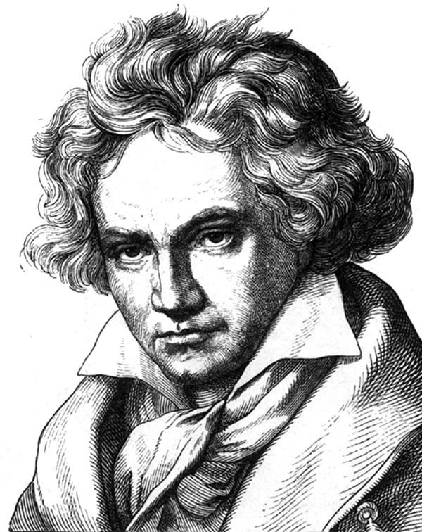 Beethoven, : Awesome Painting of Beethoven Coloring Pages