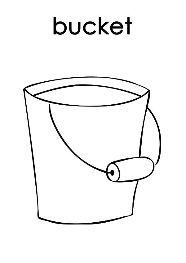 Bucket, : B is for Bucket Coloring Pages