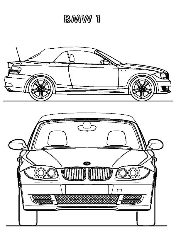 BMW Car, : BMW Car 1 Coloring Pages