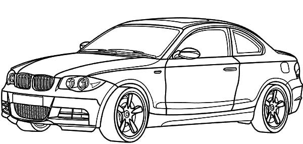 BMW Car, : BMW Car 1 Series Coloring Pages