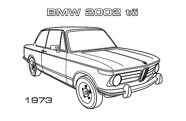 BMW Car, : BMW Car 2002 tiiColoring Pages