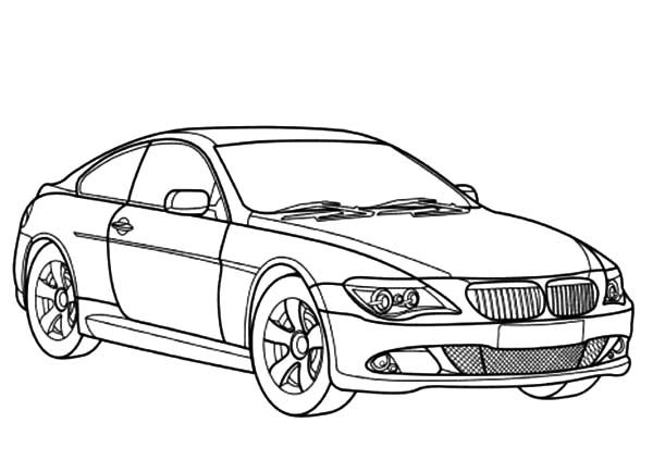 BMW Car, : BMW Car 6 Series Coloring Pages