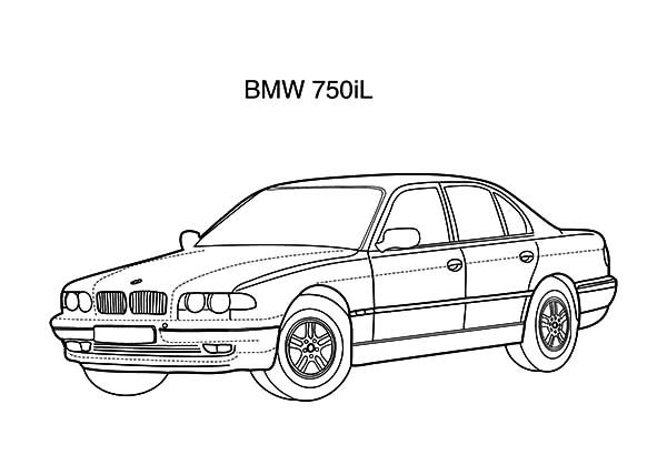 BMW Car, : BMW Car 750il Coloring Pages
