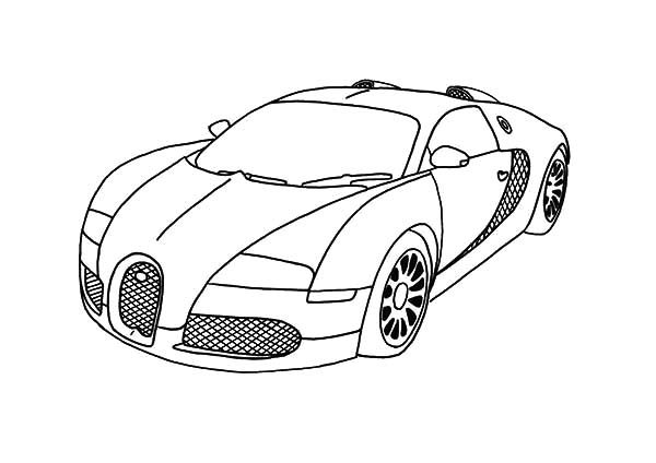 BMW Car, : BMW Car Amazing Horse Power Coloring Pages