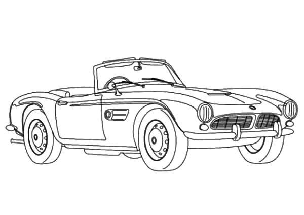 BMW Car, : BMW Car Cabrio Coloring Pages