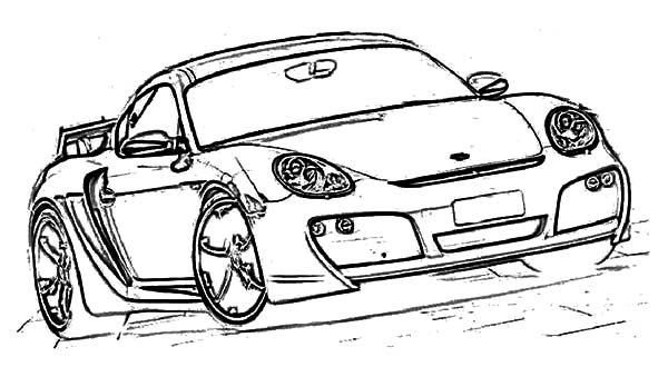 BMW Car, : BMW Car Cayman Coloring Pages