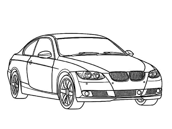 Car Design Coloring Pages : Bmw car elegant design coloring pages best place to color