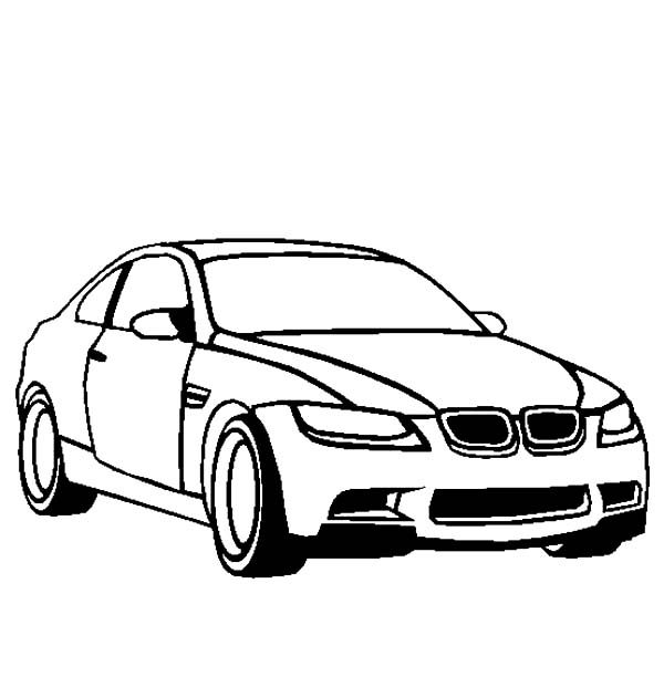 bmw car m3 coloring pages