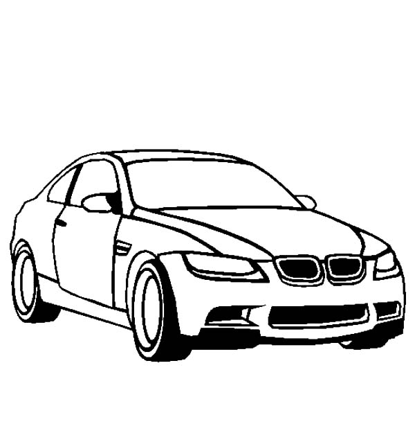Coloring Pages Cars Bmw : Bmw car m coloring pages