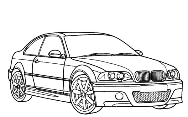 Bmw Car M3 Type Coloring Pages 2 on Bmw M3 E46