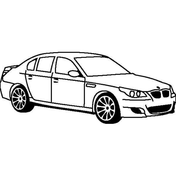 BMW Car M5 Coloring Pages