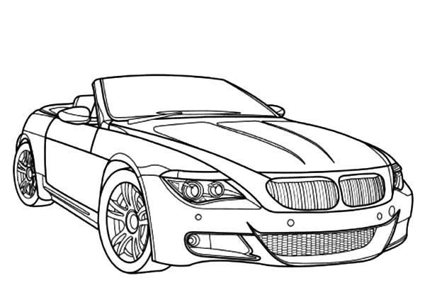 BMW Car, : BMW Car M6 Coloring Pages