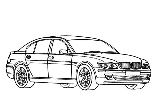 BMW Car, : BMW Car M7 Coloring Pages