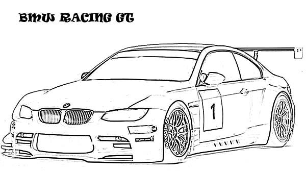 BMW Car, : BMW Car Racing GT Coloring Pages