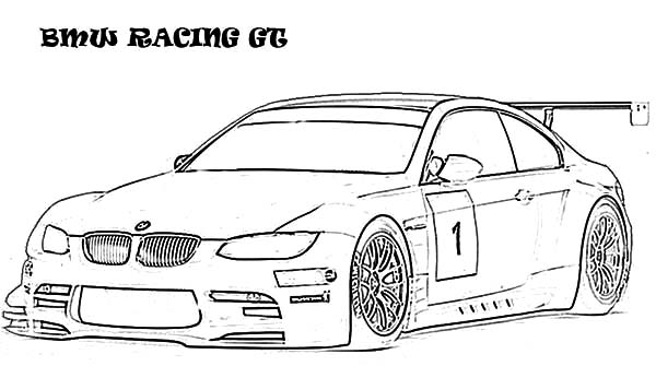 Coloring Pages Cars Bmw : Bmw car racing gt coloring pages
