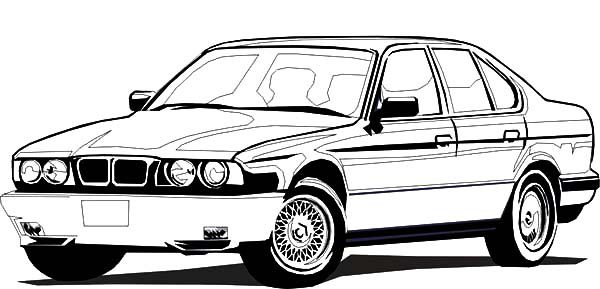 BMW Car, : BMW Car Sedan Coloring Pages