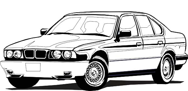 bmw car sedan coloring pages  bmw car sedan coloring pages