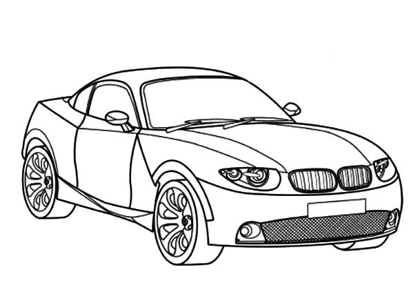 BMW Car, : BMW Car X Coupe Coloring Pages