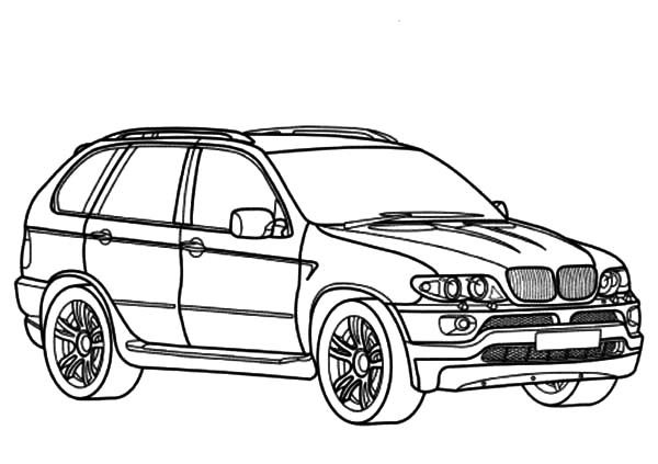 BMW Car, : BMW Car X5 Type Coloring Pages