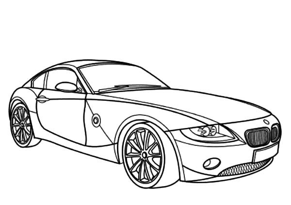 Coloring Pages Cars Bmw : Bmw car z coupe coloring pages best place to color