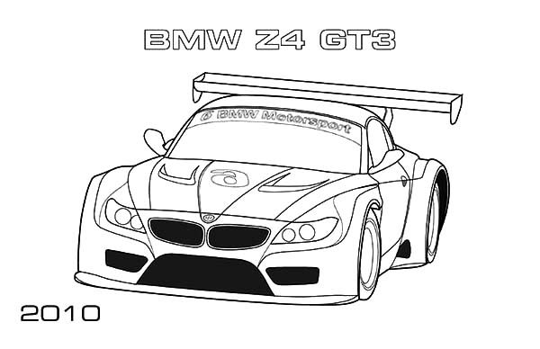 BMW Car, : BMW Car Z4 GT3 Coloring Pages