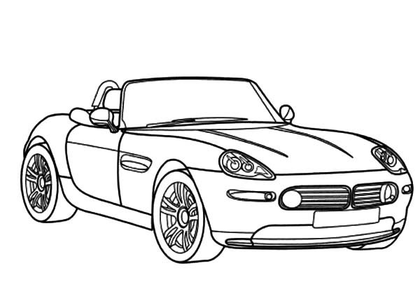 BMW Car, : BMW Car Z8 Cabriolet Coloring Pages
