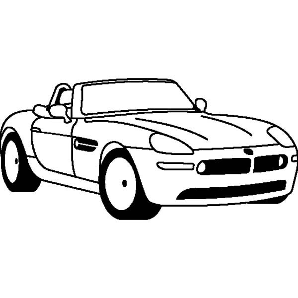 BMW Car, : BMW Car Z8 Coupe Coloring Pages