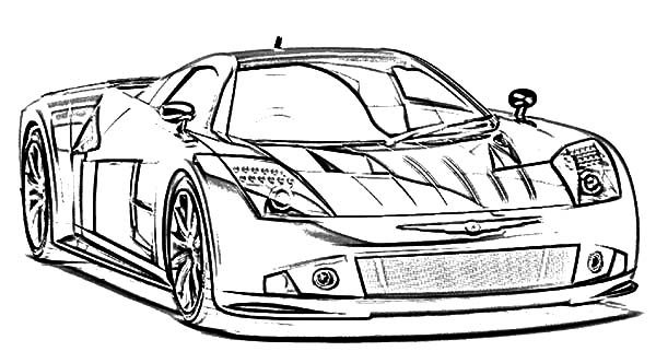 BMW Car The Awesome Racing Coloring Pages