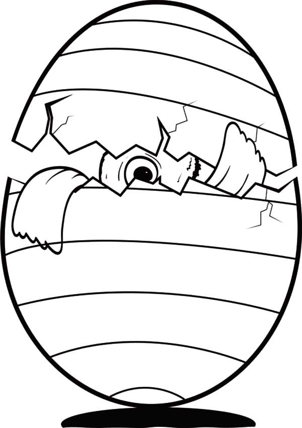 egg broken coloring pages - photo#5