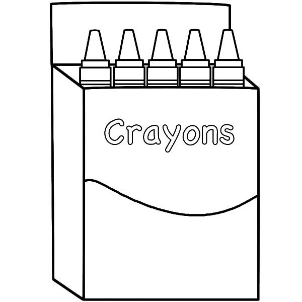 Box Crayons, : Back to School with Box Crayons Coloring Pages