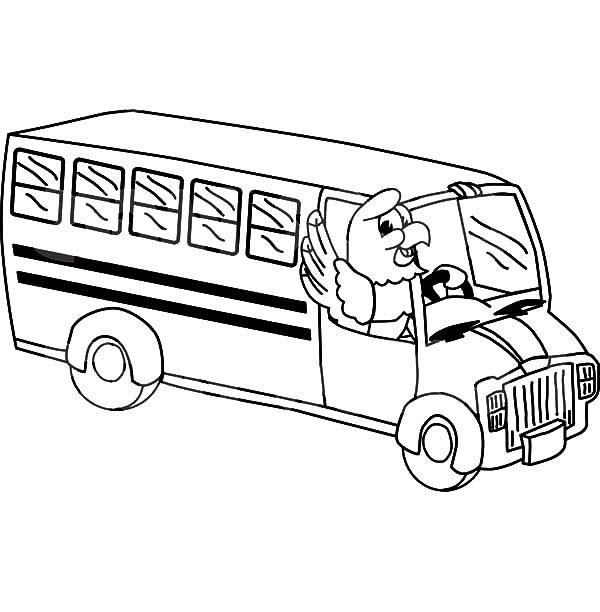 Bus Driver, : Bald Eagle Bus Driver Coloring Pages