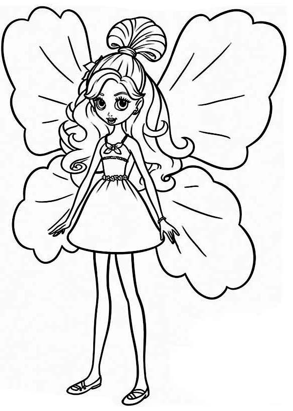 Barbie Thumbelina, : Barbie Thumbelina Coloring Pages