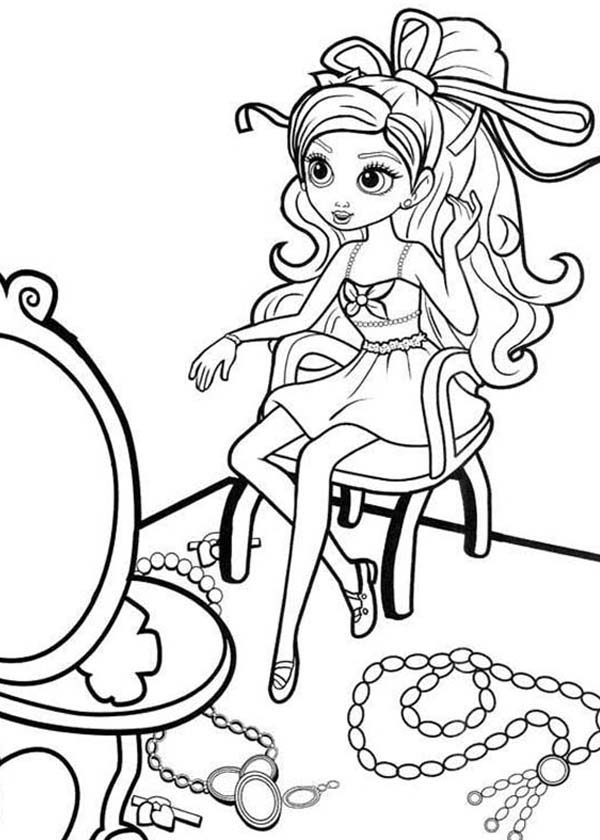 Barbie Thumbelina, : Barbie Thumbelina Has a Lot of Jewelry Coloring Pages