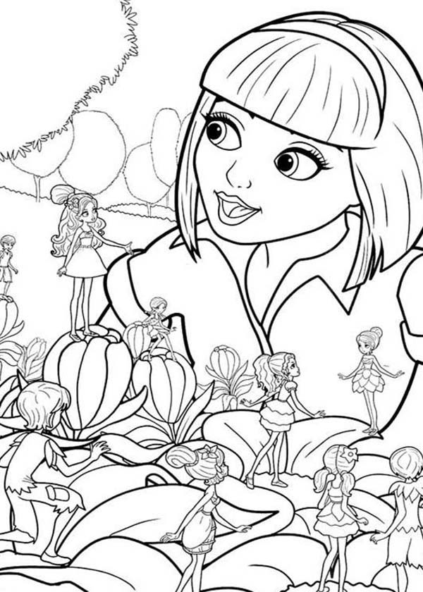 Barbie Thumbelina, : Barbie Thumbelina and Friends Like to be Friend with Vanessa Coloring Pages