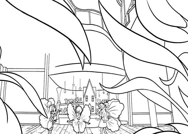 Barbie Thumbelina, : Barbie Thumbelina and Friends Planning Strategy Coloring Pages