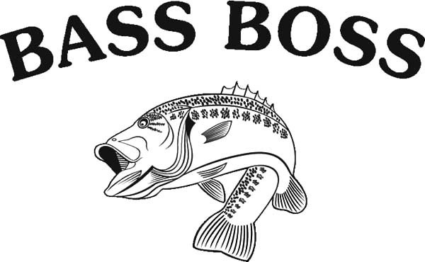 Bass Fish, : Bass Fish the Boss Fish Coloring Pages