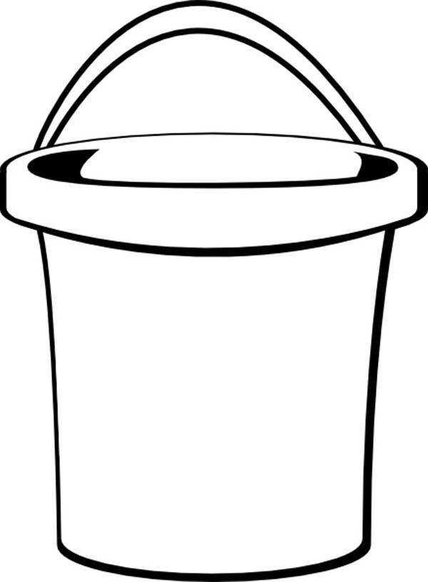 Bucket, : Beach Bucket Coloring Pages