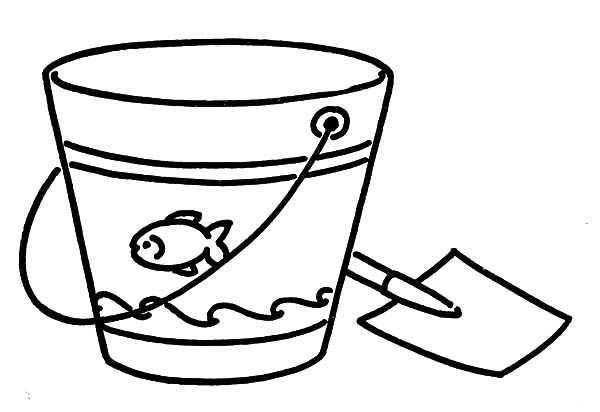 Beach Bucket, : Beach Bucket Holiday Coloring Pages