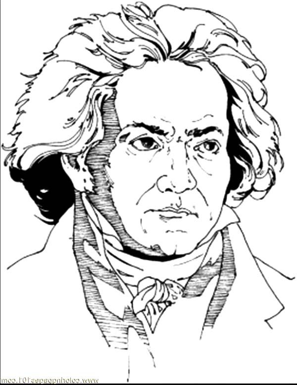 Beethoven, : Beautiful Symphony of Beethoven Coloring Pages