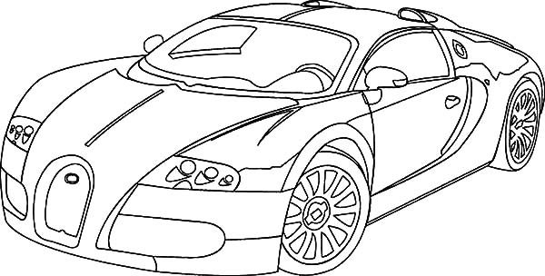 Bugatti Car, : Beautiful Veyron Bugatti Car Coloring Pages