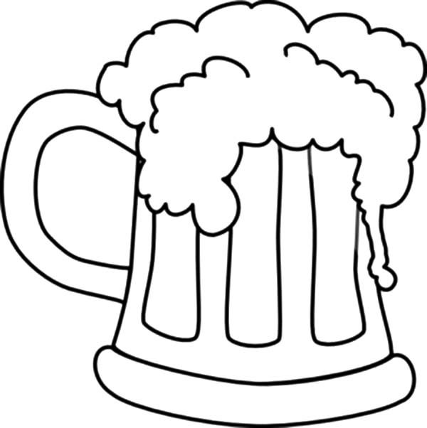 Beer, : Beer Coloring Pages