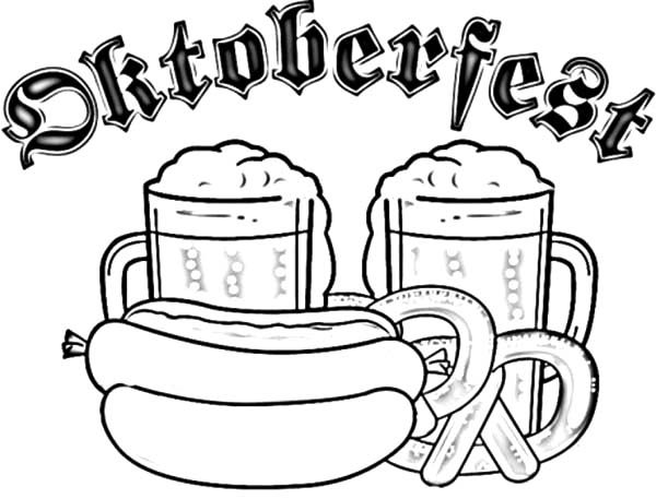 Beer, : Beer Festival in Munich Coloring Pages
