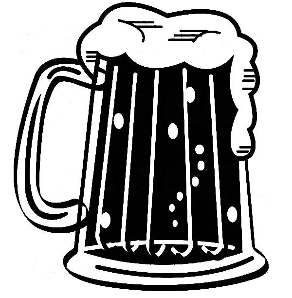 Beer, : Beer Mug Coloring Pages